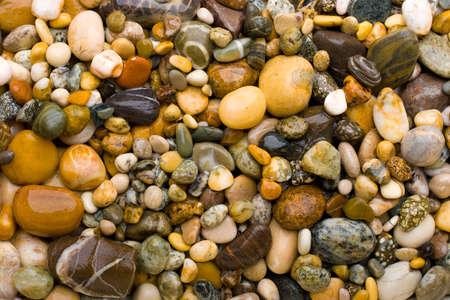 Yellow pebble background