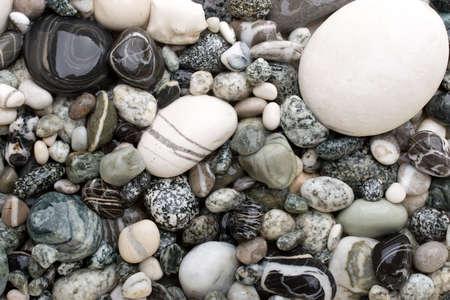 Black and white pebble background Stock Photo