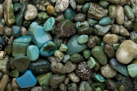 Cold colors pebble background