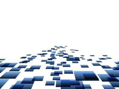 blue perspective squares Illustration