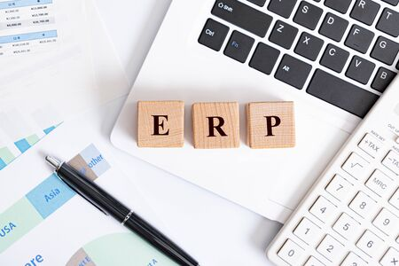 letter of the alphabet of ERP Stock Photo