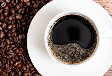 hot coffee 写真素材