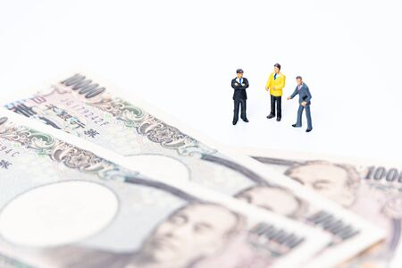 Miniature Businessman Imagens