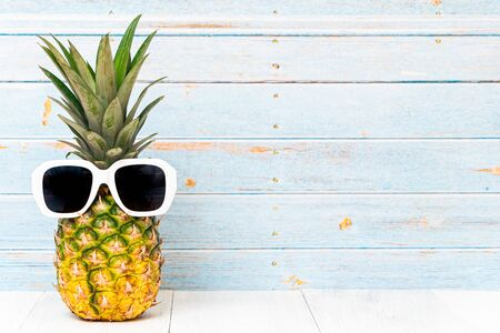Pineapple with Sunglasses 写真素材