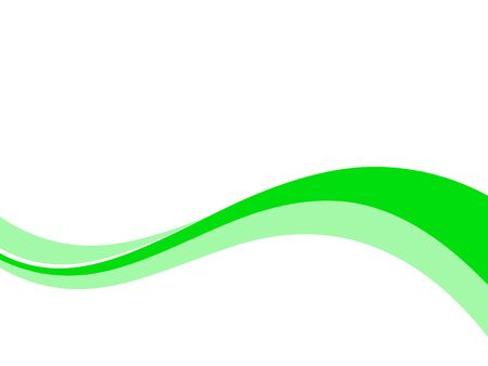 Green curved background