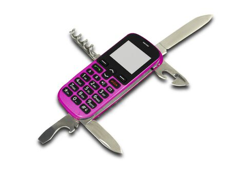 handy with jackknife in pink