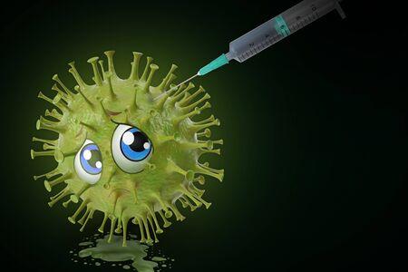 vaccination against viral disease - 3D-Illustration