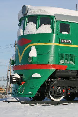 epoch: Diesel locomotive of the epoch USSR.