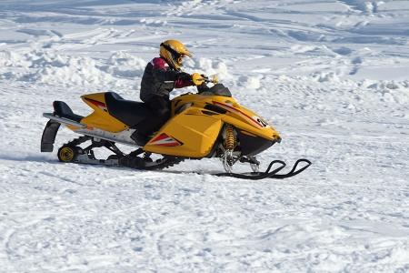 Snowmobile Racing Stock Photo