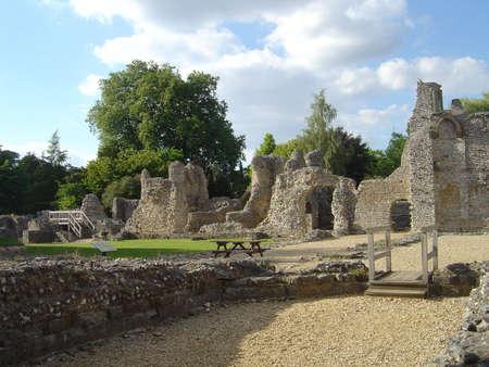 winchester: Winchester, rovine del castello Archivio Fotografico