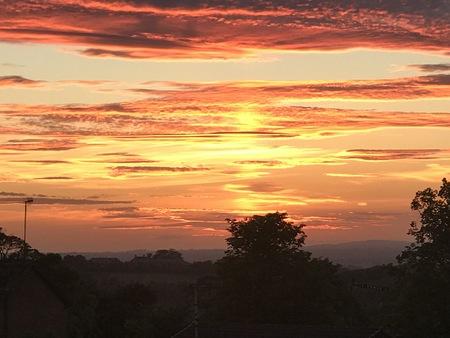 Sunset in Lancashire Stock fotó