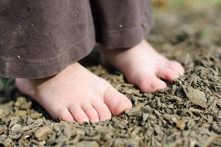 pieds sales: Pieds sales Banque d'images
