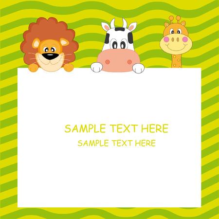 Child Postcard  Vector