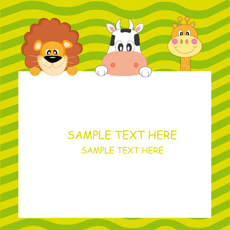 cow cartoon: Child Postcard
