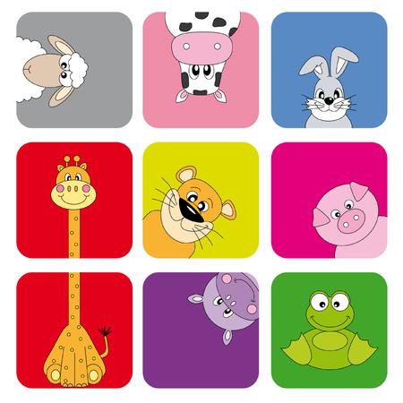 Cartoon animals and pets Stock Vector - 9139848