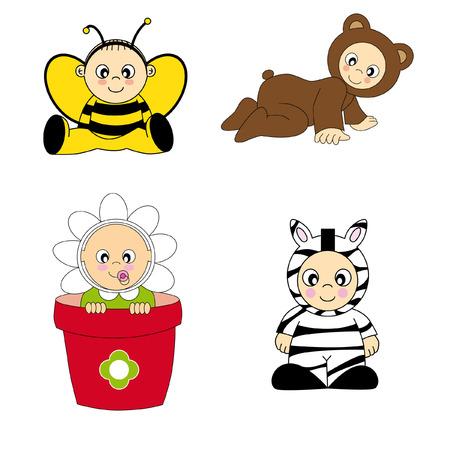 baby costume Stock Vector - 9139852