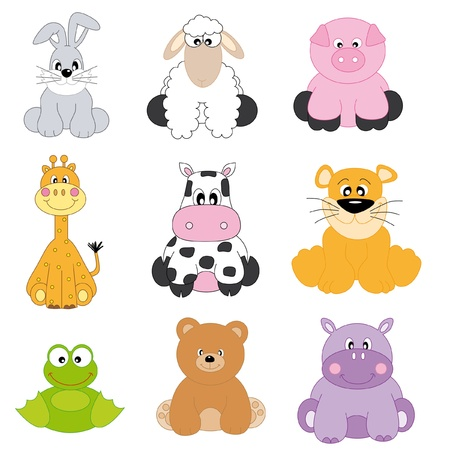 Cartoon animals and pets  Vector