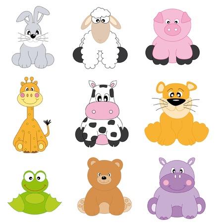 hippopotamus: Dibujos de animales y mascotas  Vectores