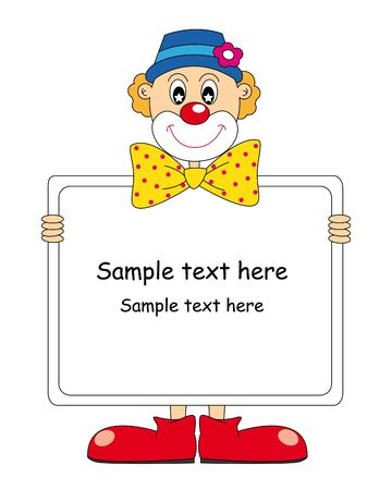 clown ': Funny clown. Vector art-illustration on a white background.
