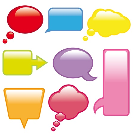 ollection of colorful speech bubbles and dialog balloons  Vector