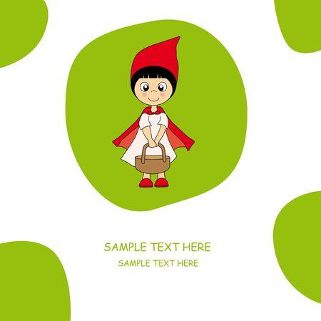 czerwony kapturek: Dziewczyna, ubrani jak Little Red Riding Hood