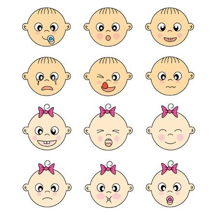 아기 얼굴 표현 일러스트