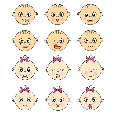baby face expressions  Stock Vector - 9243049