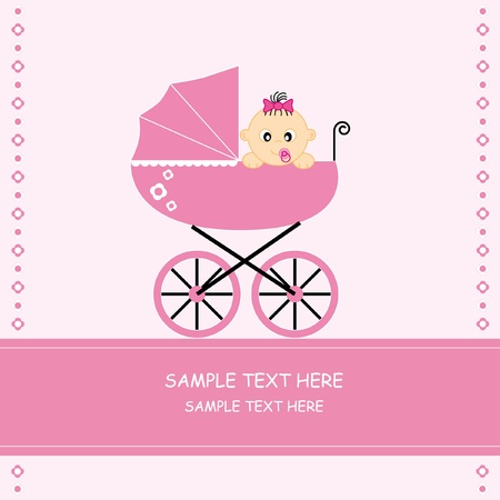 baby girl arrival: Baby girl arrival announcement card
