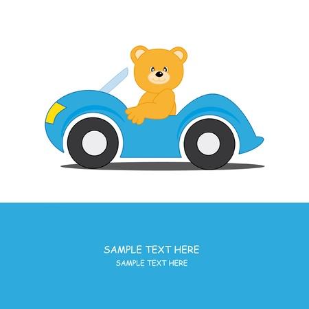 driving a car: oso conduciendo un coche
