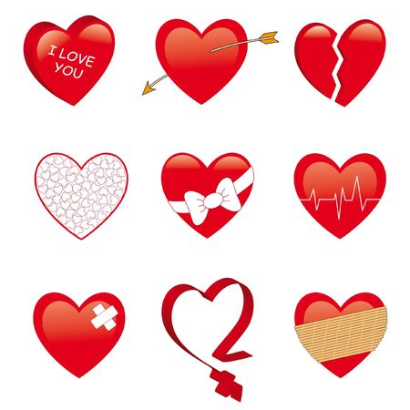 wounded heart: Heart collection.