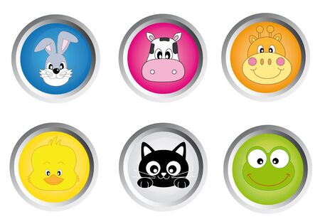 icon buttons animals  Vector