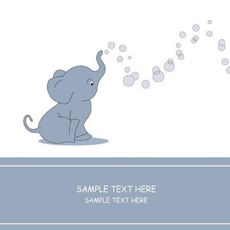 Elephant making soap bubble  Vector