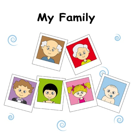 pictures of the entire family Stock Vector - 9276940