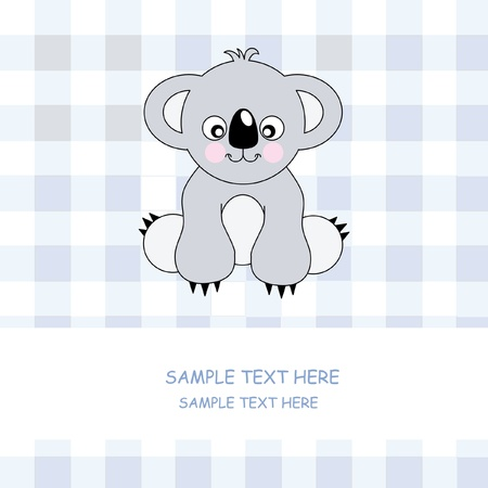 Cute Koala - Vector. Greeting Card  Vector