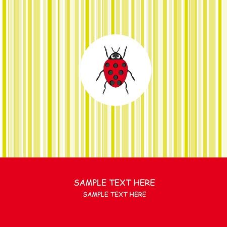 Greeting card. Ladybug Stock Vector - 9318905
