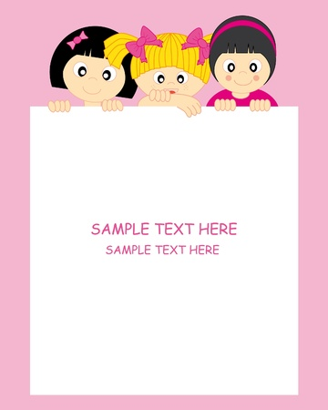kids and frame Stock Vector - 9318909
