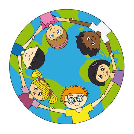 world peace: children around the world united