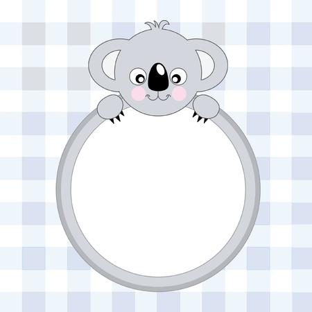 Cute Koala - Vector. Greeting Card  Vector