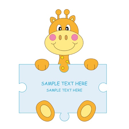 jirafa cute: Jirafa. Anuncio de llegada de ni�o de beb�