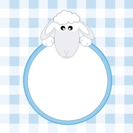Baby boy arrival announcement. Sheep Vector