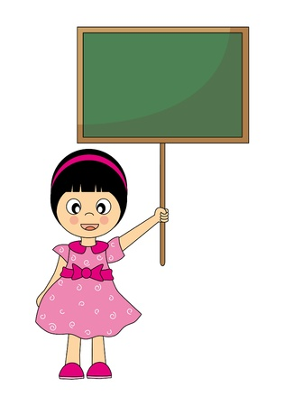 girl with a blackboard. Back to School Stock Vector - 9426558
