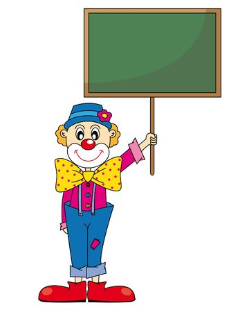 stage costume: Funny clown. Vector art-illustration on a white background.
