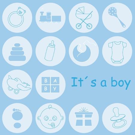 Carta di annuncio Baby boy arrivo