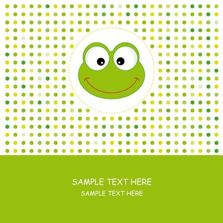 Frog. Greeting card  Vector