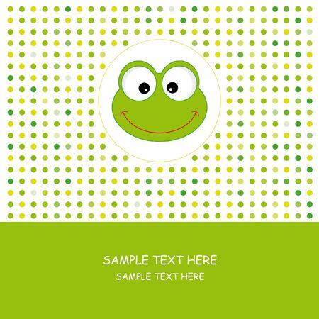 cute frog: Frog. Greeting card