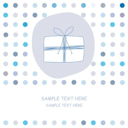 Greeting card. Blue Stock Vector - 9426569