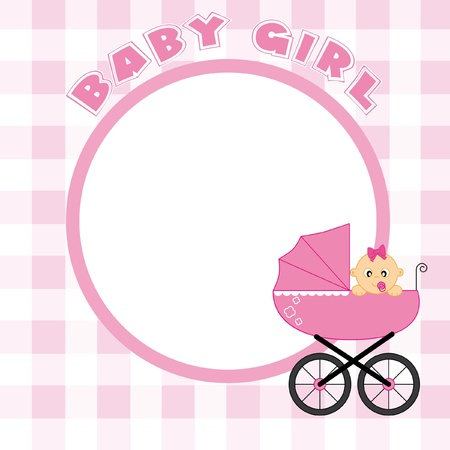 Baby girl frame for text or photo Vector