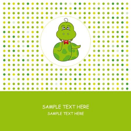 Greeting card. Snake  Vector