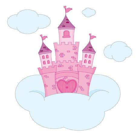 fortress: Pink Princess Castle Illustration