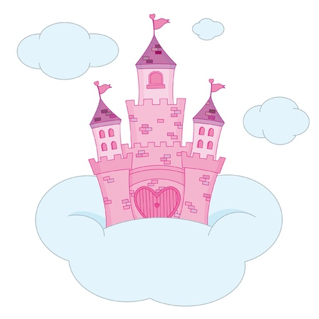 Pink Princess Castle Stock Vector - 9515466